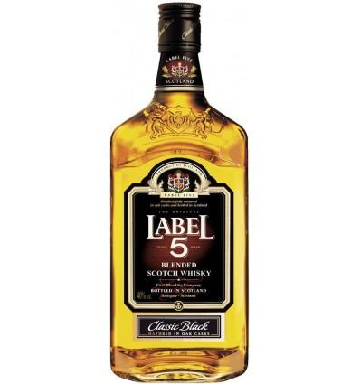 Label 5 Whisky 40% 1 ltr.