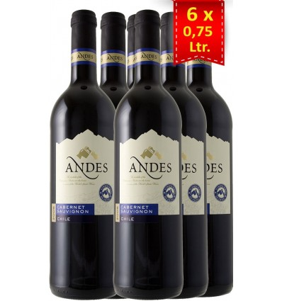 Andes Cabernet Sauvignon 6x0.75 ltr., 13,5%
